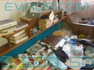 Извозване на отпадъци от клошарско жилище