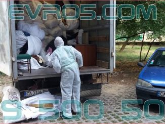 Извозване на отпадъци след смърт в клошарско жилище