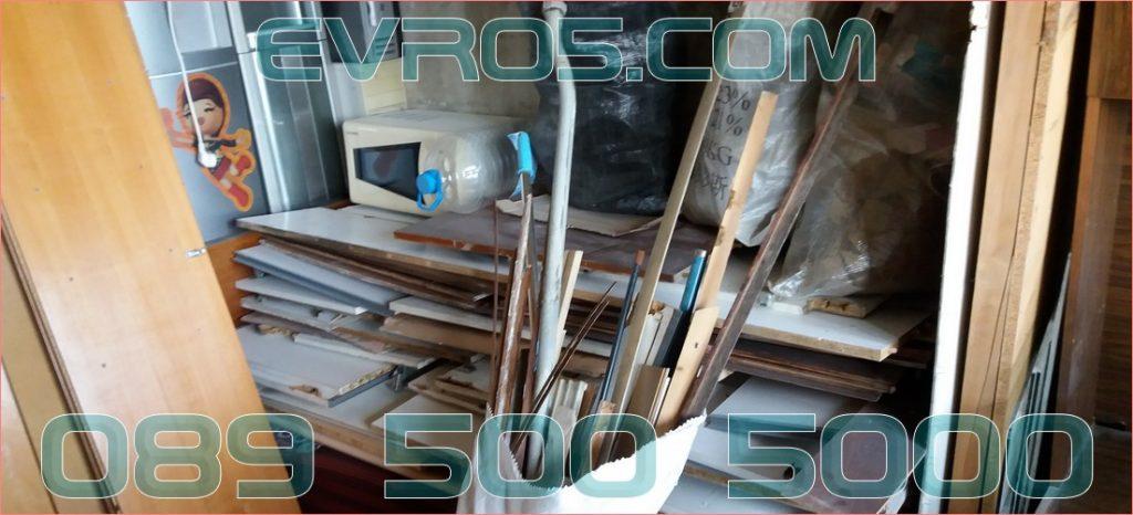 Извозване на отпадъци и дървения от апартамент